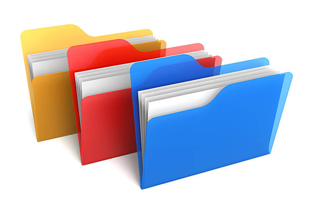 Transparent Color Folders and Files stock photo