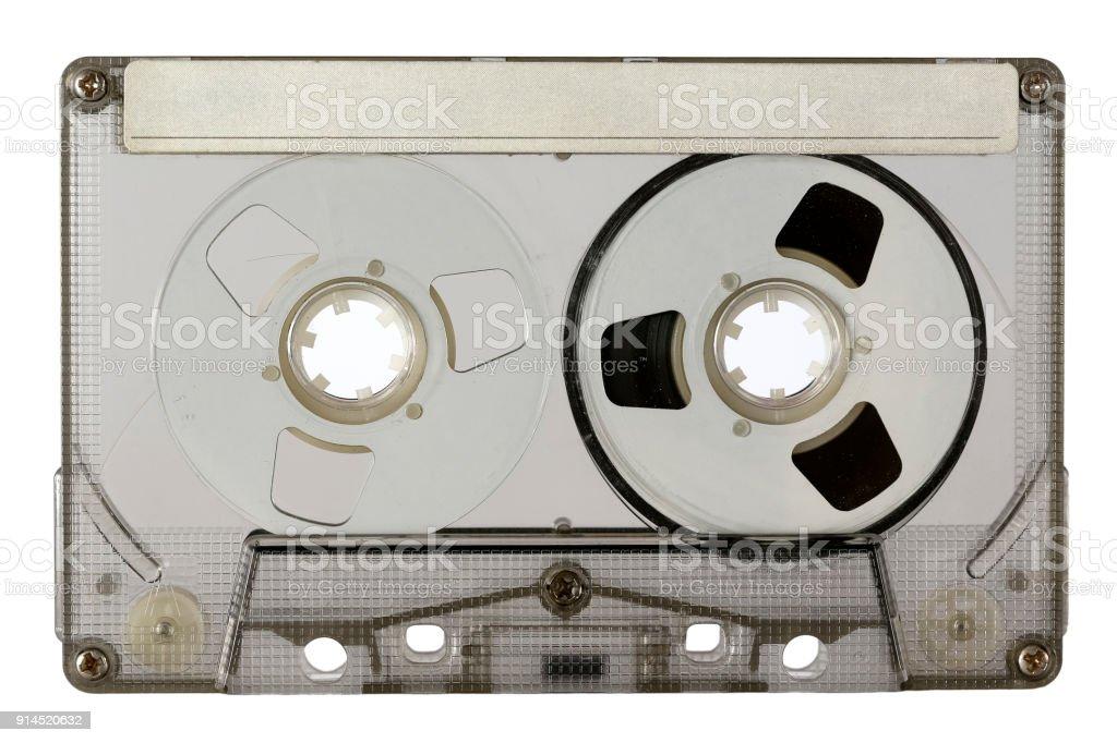 Transparent compact cassette stock photo
