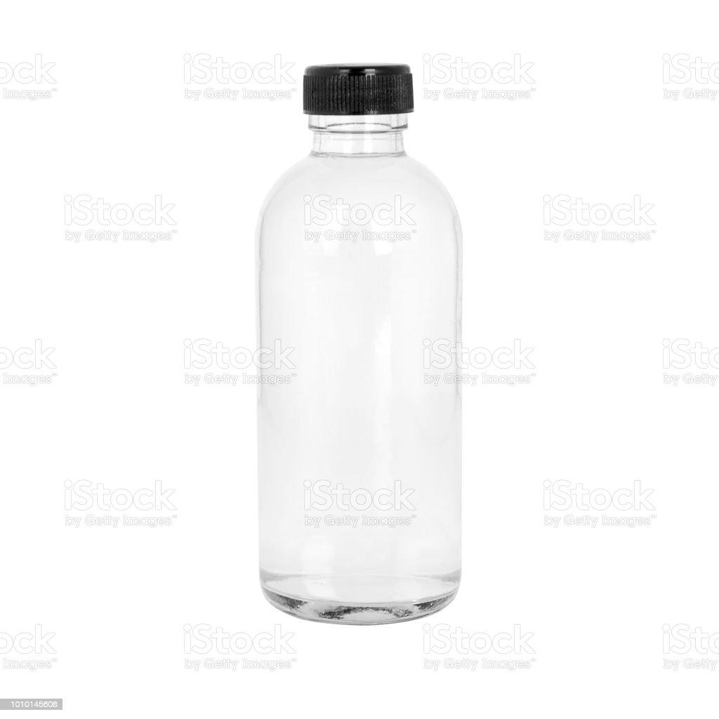 Garrafa transparente de cosmético ou medicamento - foto de acervo