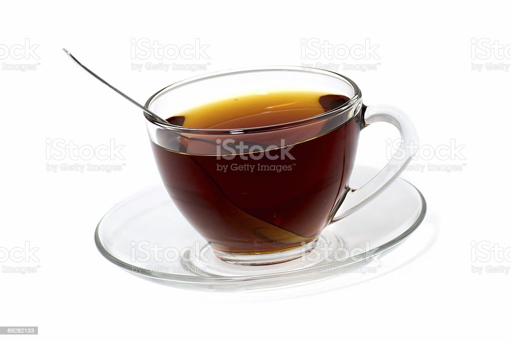 Transparent cup of tea royalty-free stock photo