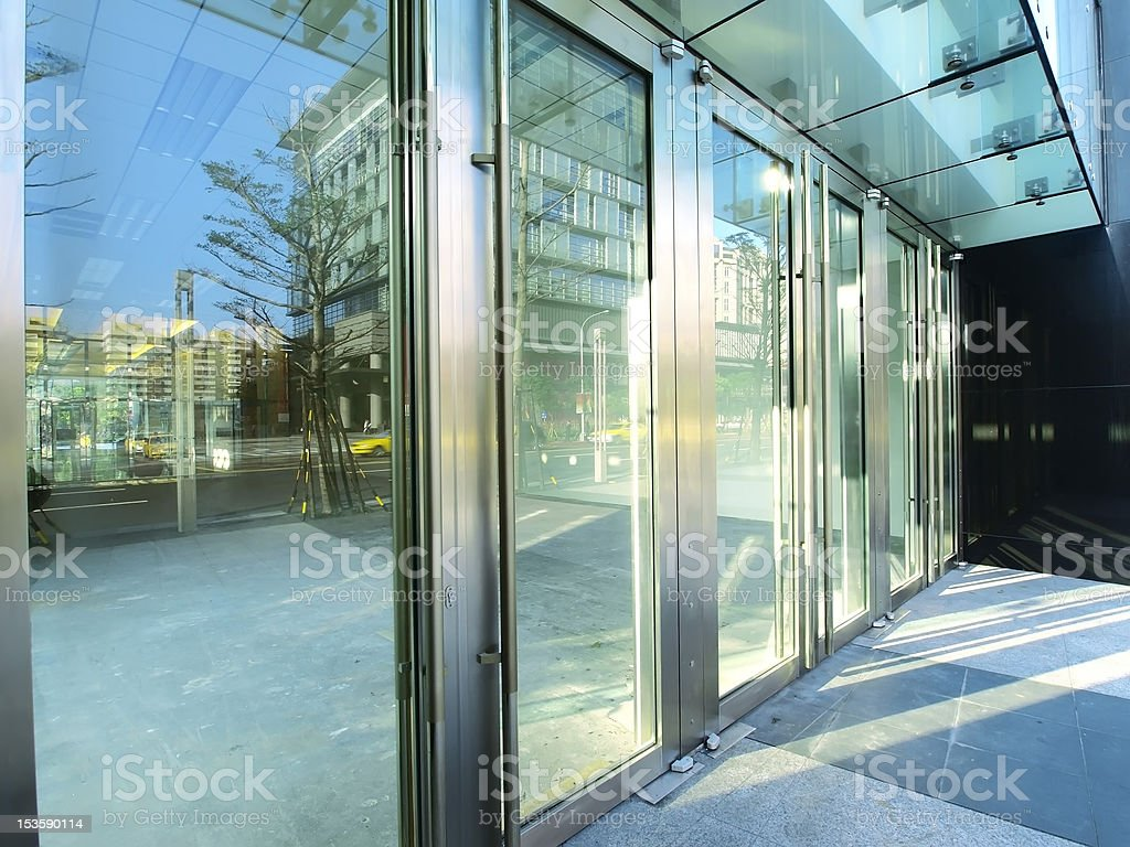 Transparent door stock photo