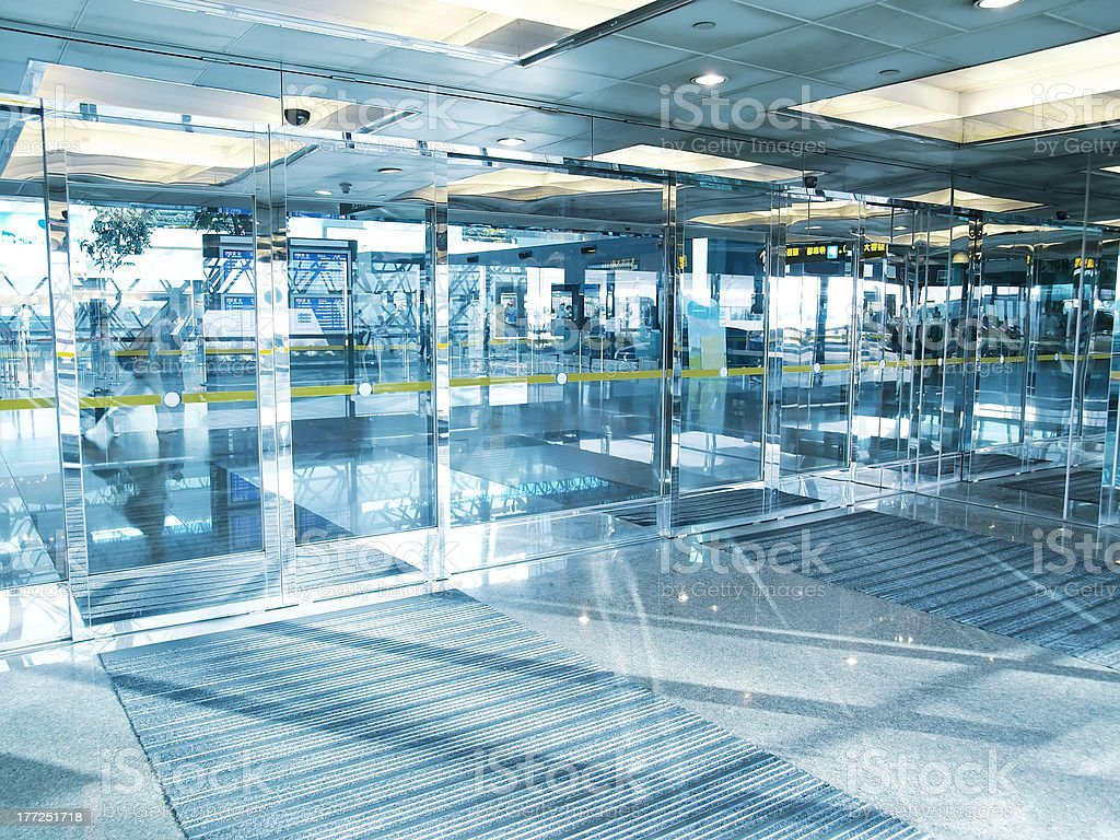 Transparent door stock photo