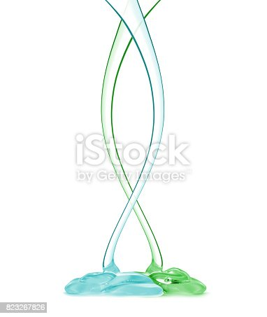 istock Transparent drips on a white background 823267826