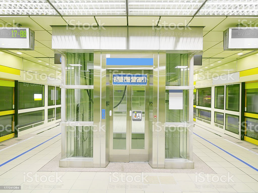 Transparent elevator stock photo
