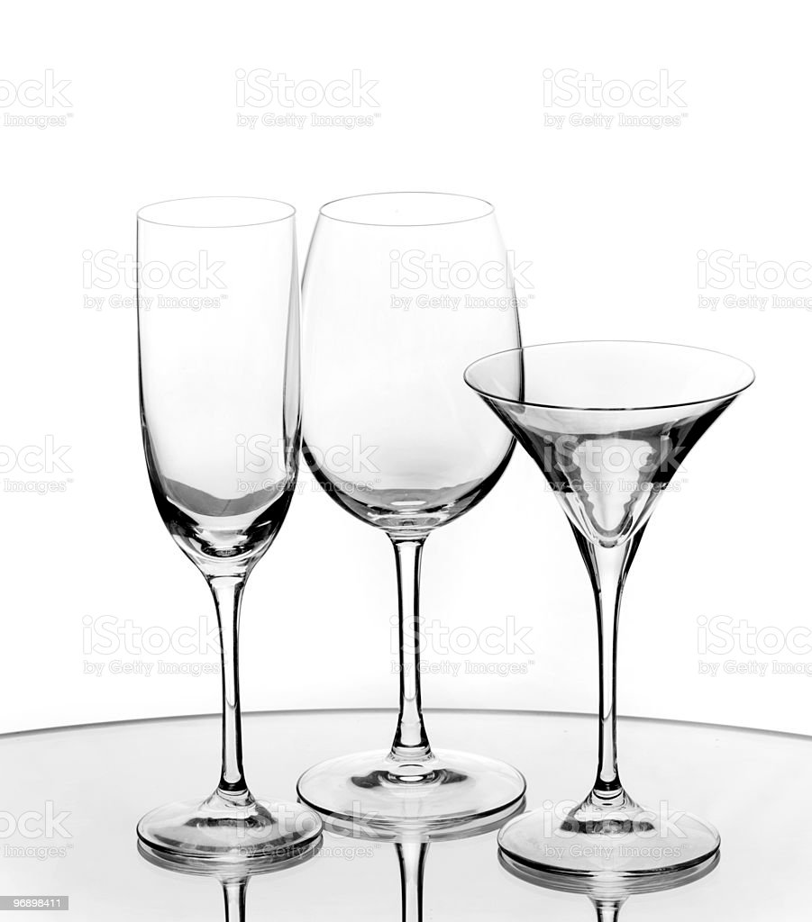 transparent empty wine glass royalty-free stock photo