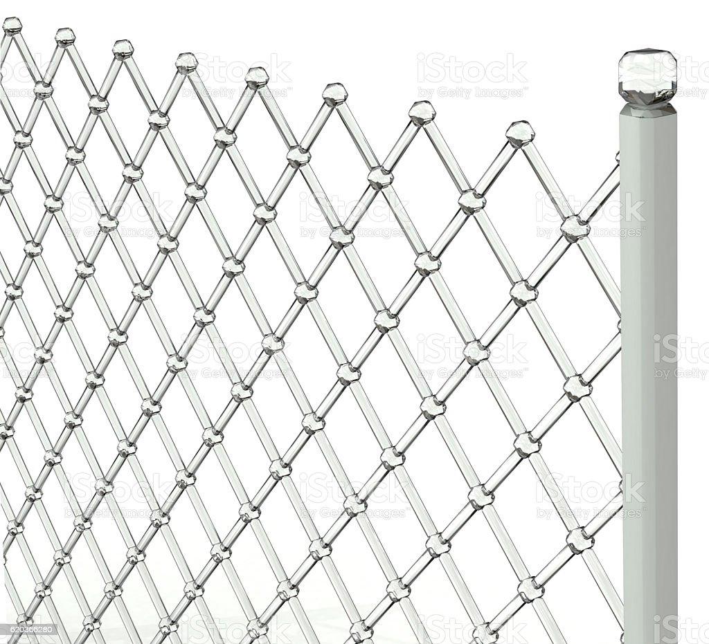 Transparent fence zbiór zdjęć royalty-free