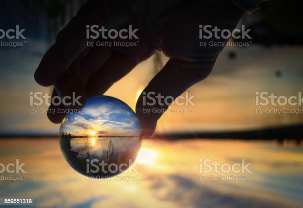 Transparent glass ball reflecting a sunset on the lake picture id859551316?b=1&k=6&m=859551316&s=612x612&h=cfipvhjex izw8p6f4wyxe fzhoouh6dcimm6g dpmy=