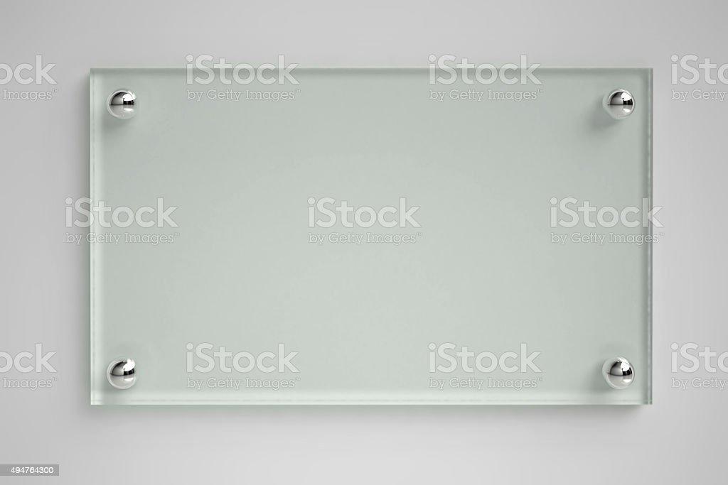 Transparent glass board stock photo