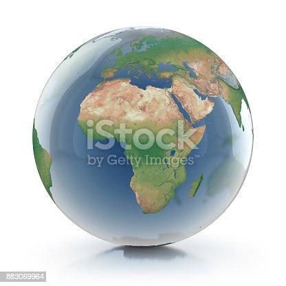 817002182 istock photo transparent globe 3d illustration 883069964