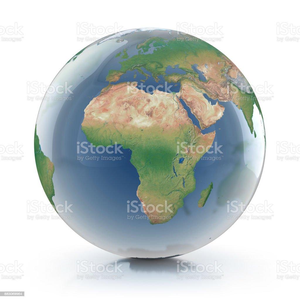 Ilustración 3d de globo transparente - foto de stock