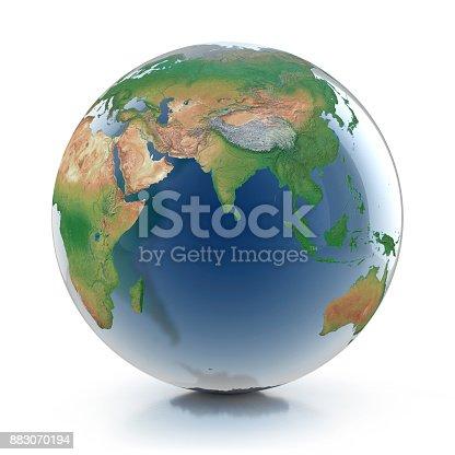 817002182 istock photo transparent globe 3d illustration 883070194
