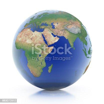 817002182 istock photo transparent globe 3d illustration 883072512