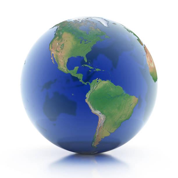 transparent globe 3d illustration - foto stock