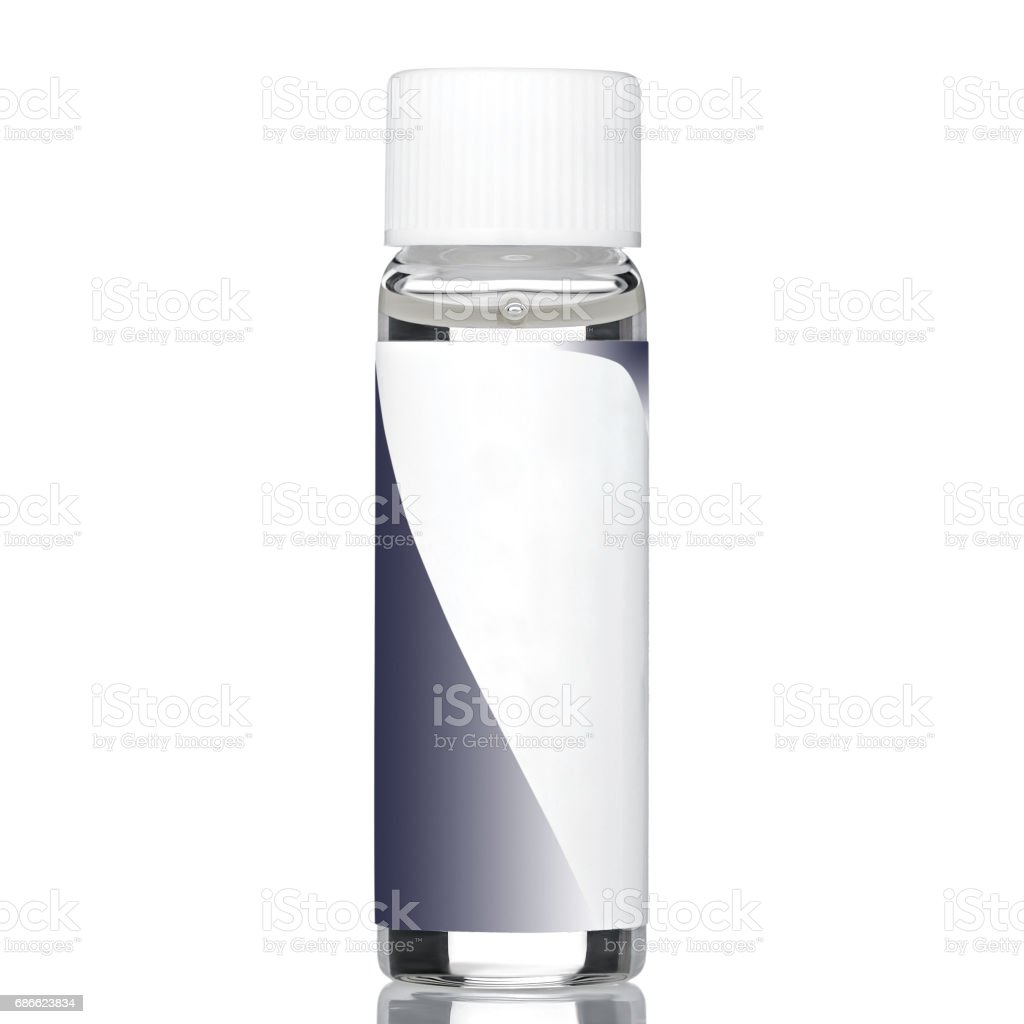 Transparent glue for nails royalty-free stock photo