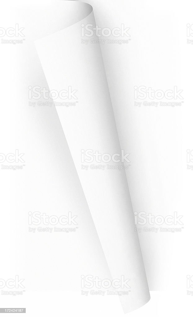Transparent Paper Curled Page Turn, w/ Clipping Paths stock photo