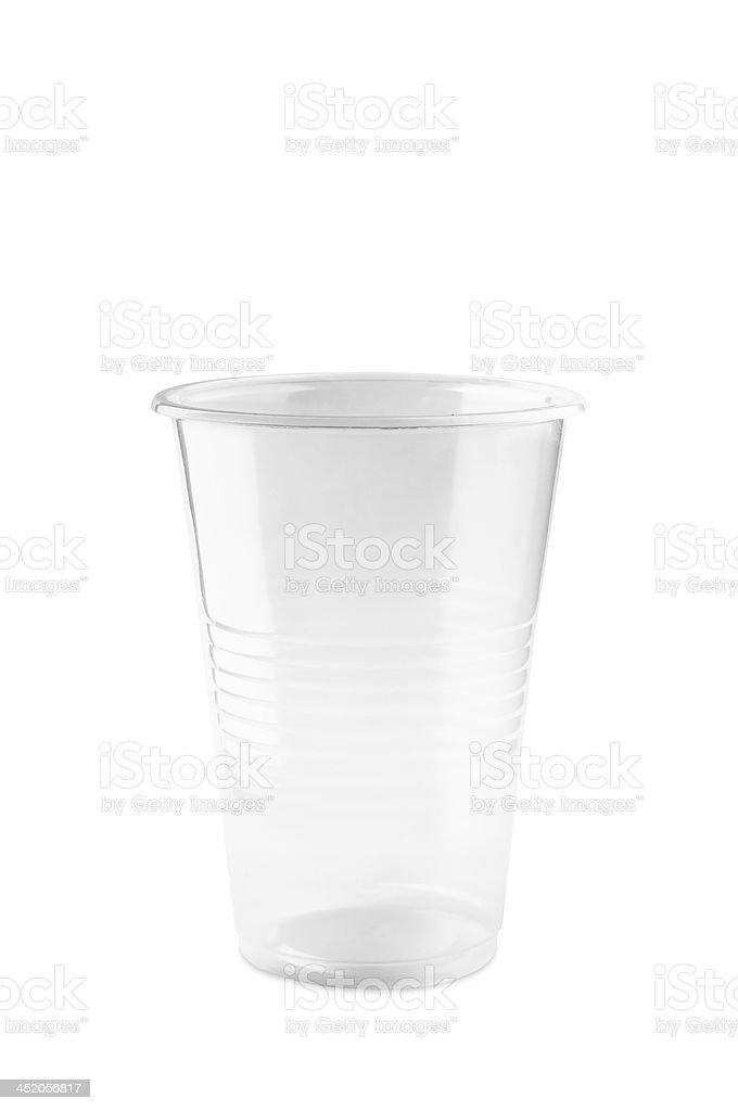 Transparent Plastic Glass stock photo