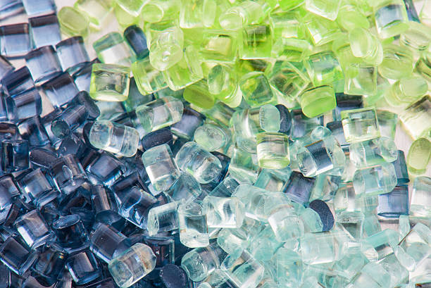 transparent plastic resin stock photo