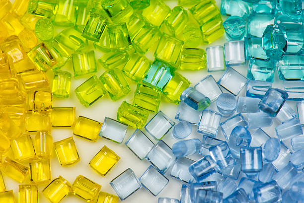 transparent polymer resin stock photo