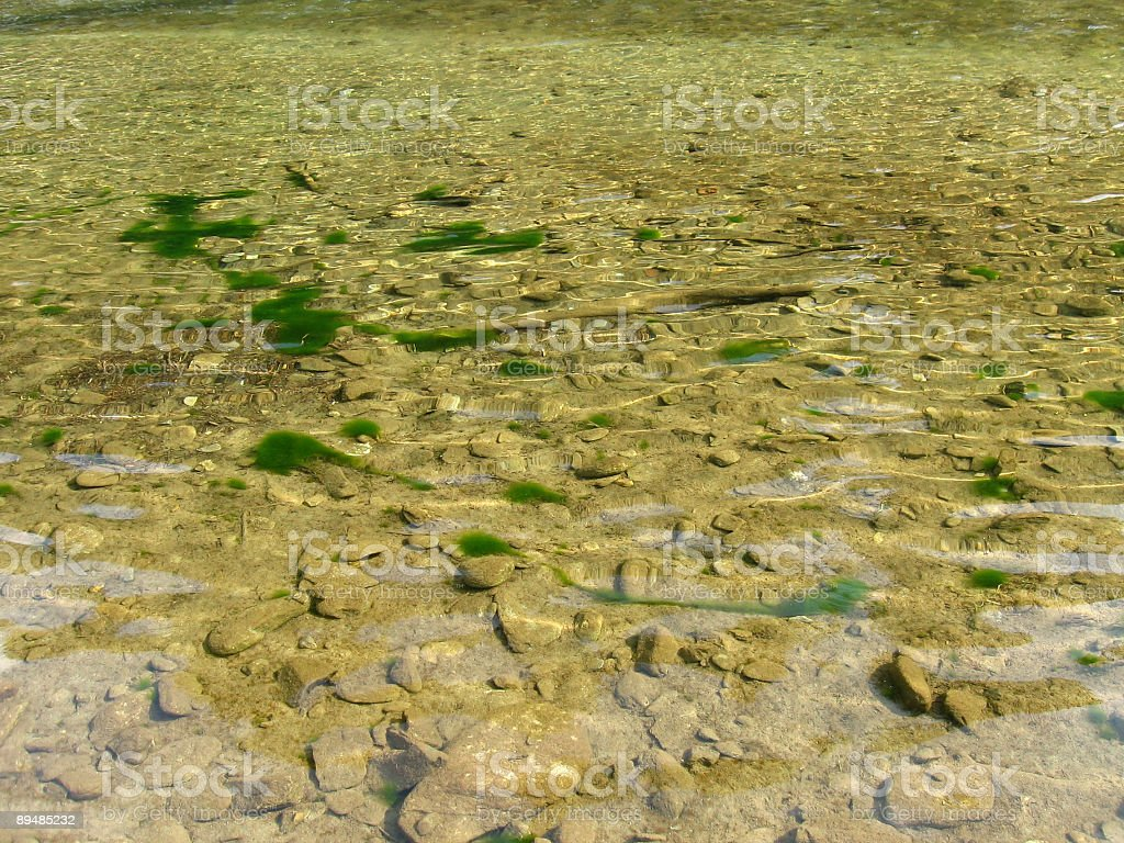 Transparent river water royalty-free stock photo