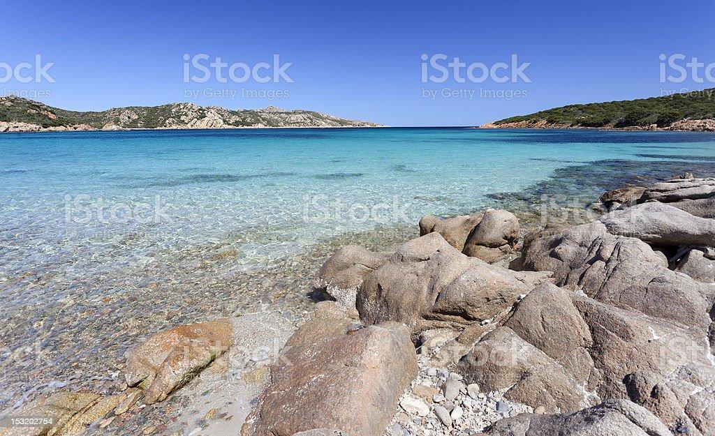 Transparent sea of 'Cala Napoletano' (Sardinia,Italy) stock photo