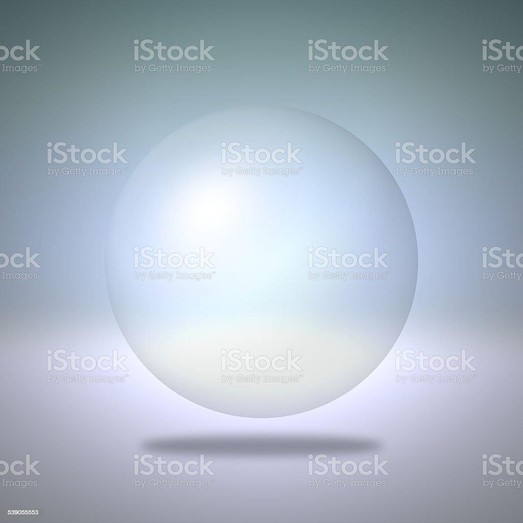 Sfera Su Sfondo Blu Trasparente Fotografie Stock E Altre Immagini