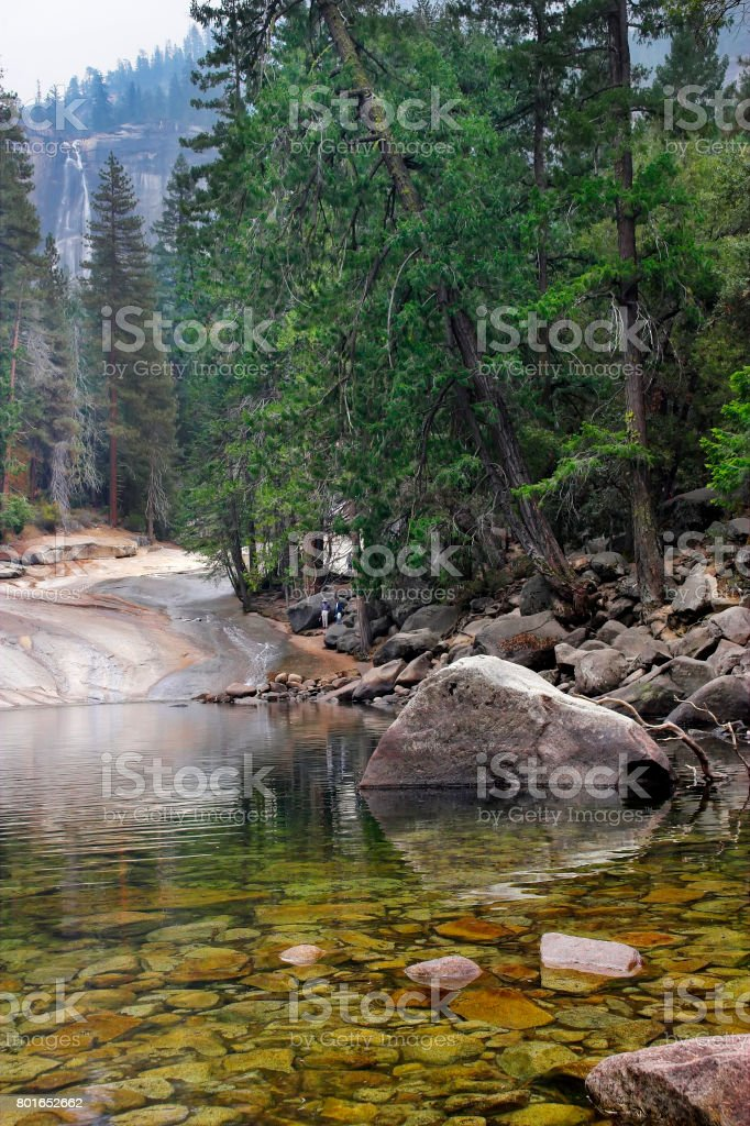 Transparent stream. stock photo