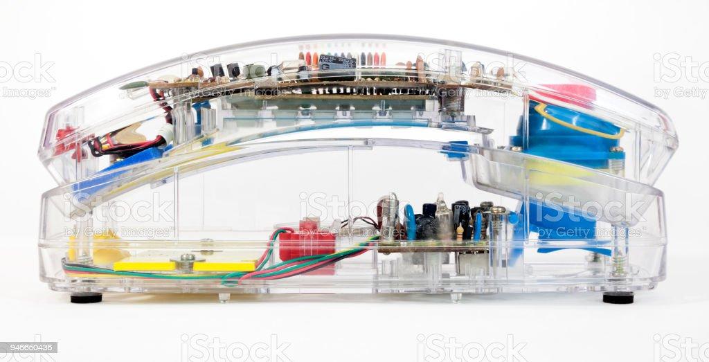 Transparent Telephone Handset stock photo