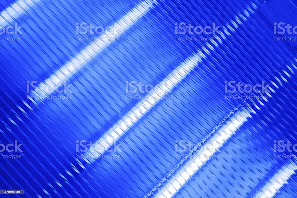 Transparent ultraviolet lamp panel for water cleaning stock photo