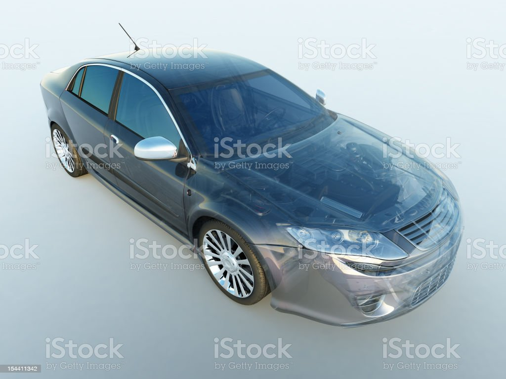 Transparent vehicle stock photo