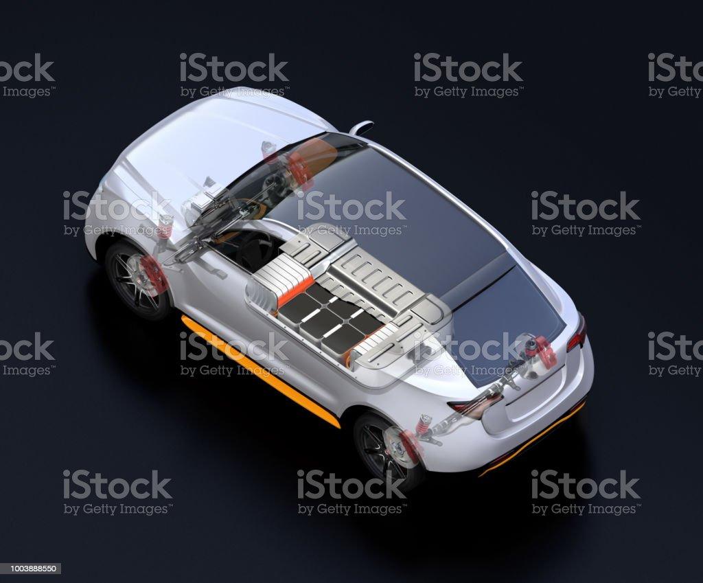 Transparente Sicht auf Elektro-SUV-Auto – Foto