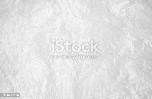 istock Transparent white cellophane or plastic, background 864633510