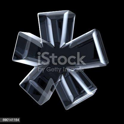 istock Transparent x-ray asterisk symbol. 3D 590141154
