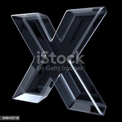istock Transparent x-ray letter X. 3D 546443116