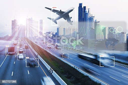 istock transport and Artificial intelligence concept. 852707066