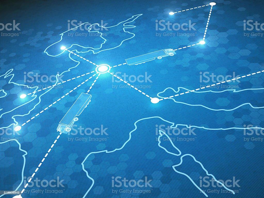 Trasporti e logistica foto stock royalty-free