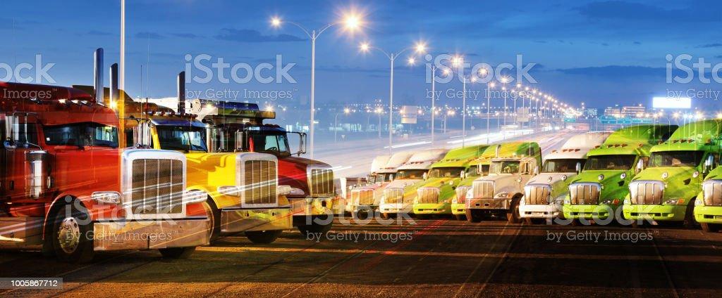 Transport Fleet stock photo