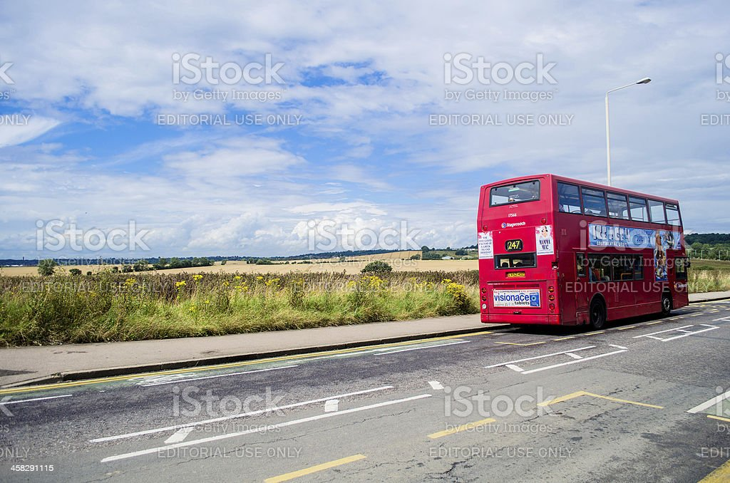 Transport for London; red double decker bus stock photo