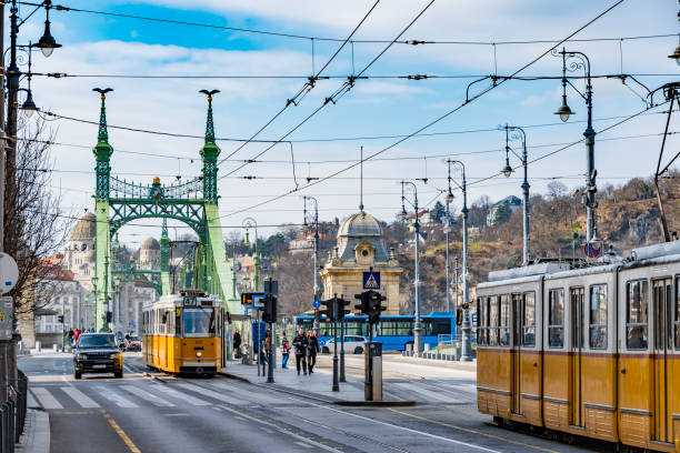 Transport in Budapest, Hungary stock photo