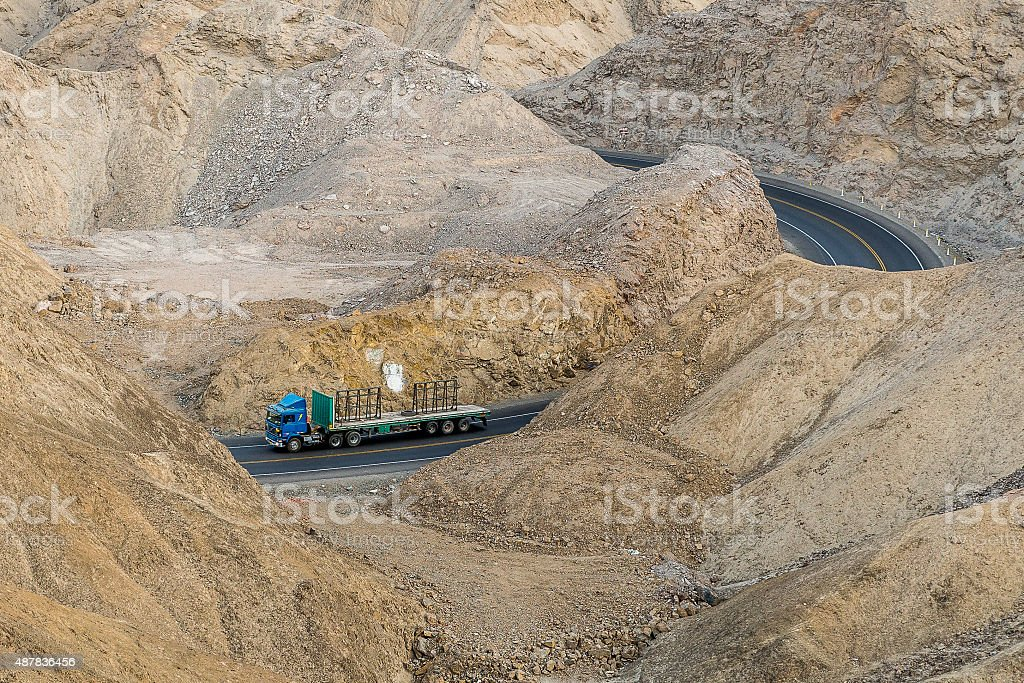 Transport in the desert stock photo