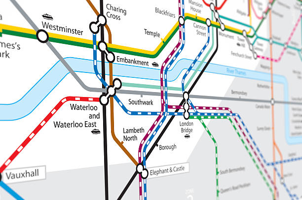 Transport Map stock photo
