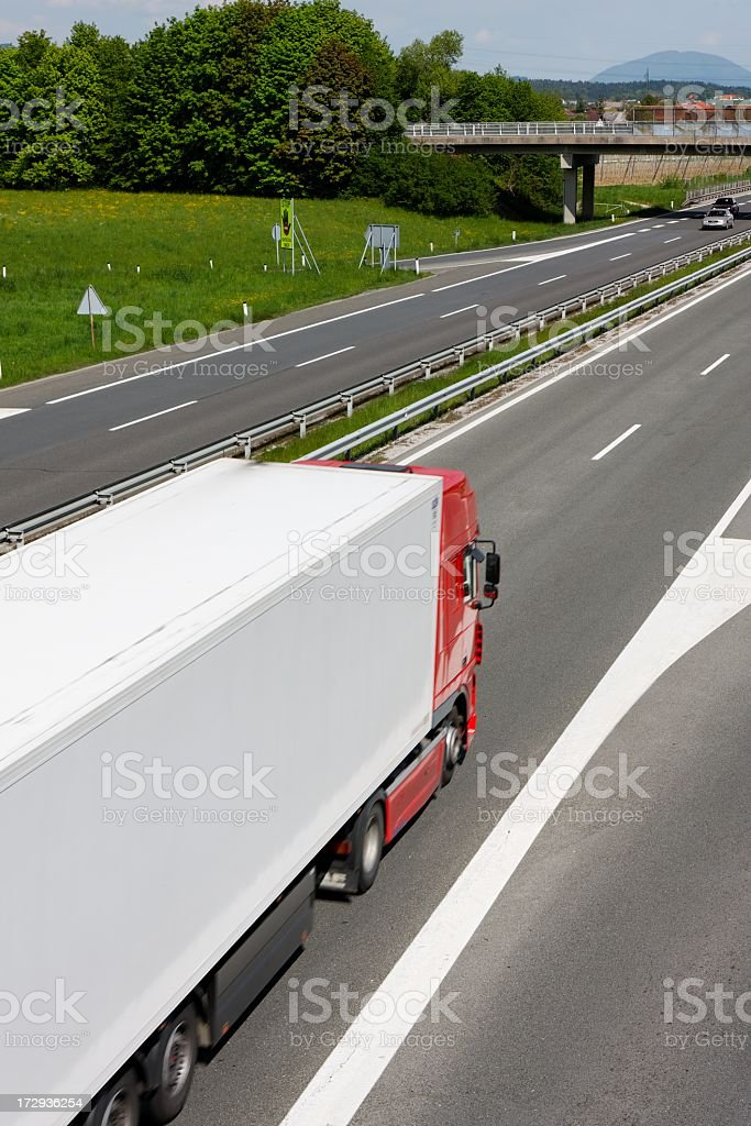 Transport on the road royalty-free stock photo