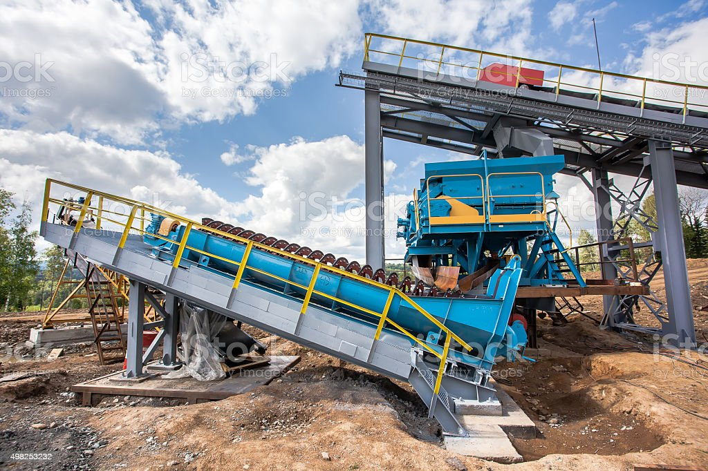 transport ore processing stock photo