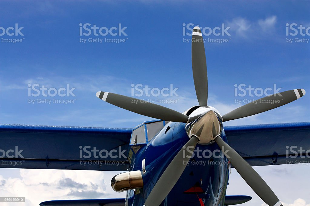 Transport plane stock photo