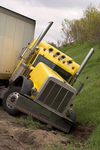 Transport Truck Crash stock photo
