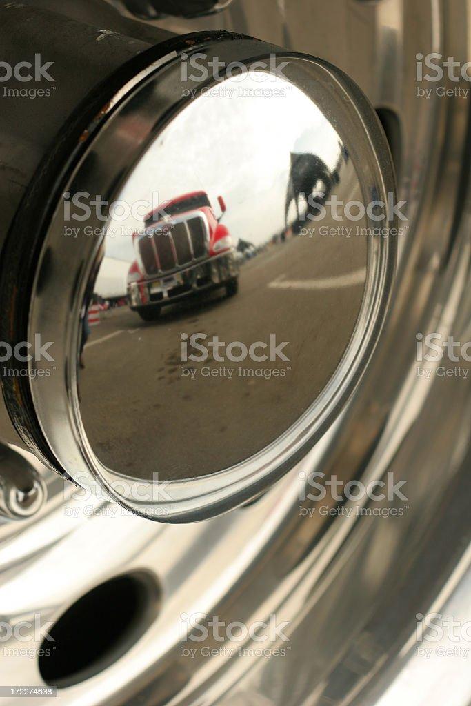 Transport Truck Reflection royalty-free stock photo