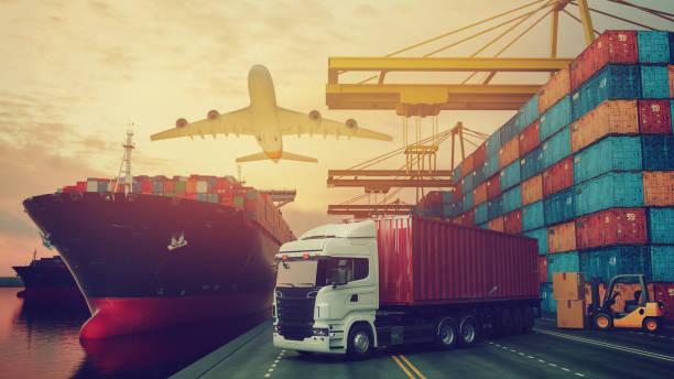 Transportation and logistics. stock photo