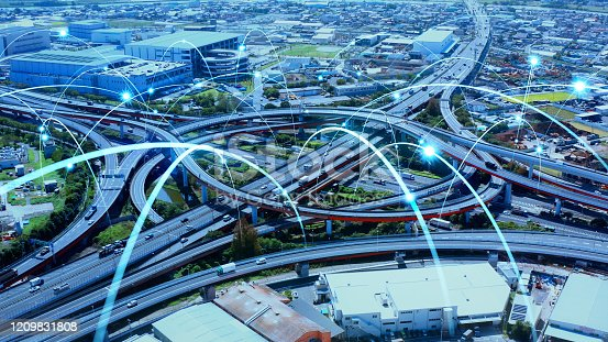 1140961203 istock photo Transportation and technology concept. ITS (Intelligent Transport Systems). Mobility as a service. 1209831808