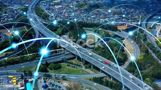 1140961203 istock photo Transportation and technology concept. ITS (Intelligent Transport Systems). Mobility as a service. 1209831966