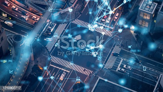 istock Transportation and technology concept. ITS (Intelligent Transport Systems). Mobility as a service. 1210902717