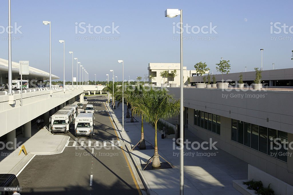 Transportation at the Airport stock photo